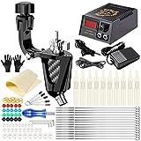 ZYC Máquina de Tatuaje LCD Dual Power Needles Tips Kit para Principiantes Set Supply Tattoo Complete Beginner Machine Guns Set de Accesorios para Fuente de alimentación