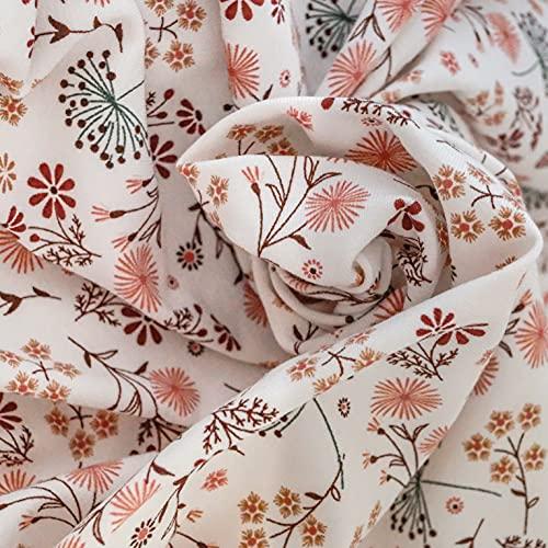 Tela de jersey de algodón con diseño de flores | Tejidos para coser | Tela de algodón para niños (Oeko-Tex) por metros con elegante patrón | 150 x 150 [cm] | Confección individual para ti.
