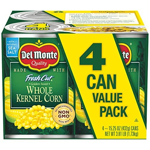 Del Monte Canned Whole Golden Sweet Kernel Corn, 15.25 Ounce (Pack of 4) 3
