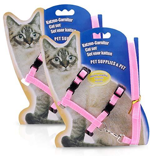 PETCUTE Pettorina per Gatto con guinzaglio Imbracatura per Gatto Guinzaglio Pettorina per Gatto 2 Pezzi