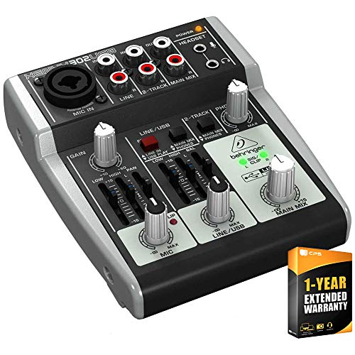 Buy Discount Behringer XENYX 302USB Compact Mixer Bundle with 1 Year Extended Warranty