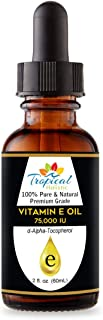 100% Pure Premium Vitamin E Oil 2 oz - Maximum Strength 75,000 IU-Blocks Free Radicals, Slows Aging, Reduce...