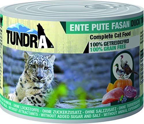 Tundra Katzenfutter Ente, Pute & Fasan Nassfutter - getreidefrei (6 x 200g)