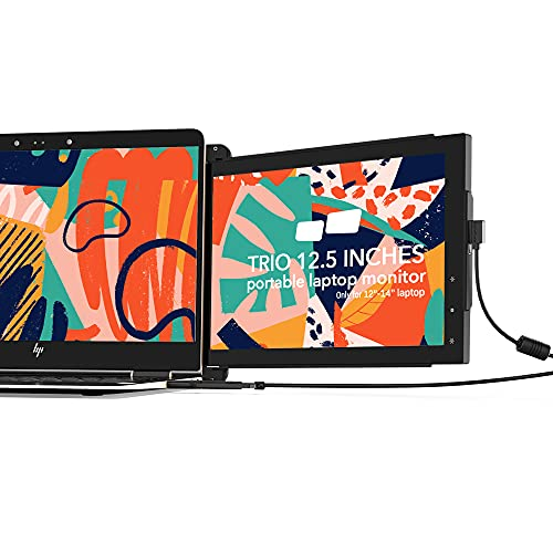 Mobile Pixels Trio Portable Monitor for Laptops, 12.5'' Full HD IPS Screens, USB C/USB A Dual or Triple Displays,Windows/OS/Android/Nintendo Switch (One Monitor Only)
