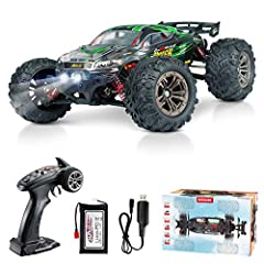 【52KM/H Amazingly Fast with 4 Wheels Drive】 2847 brushless motor,you can break the speed limit up to about 33MPH+,you'll be impressed by this little monster truck.Four wheels are installed independent suspension spring let cross-country car body more...