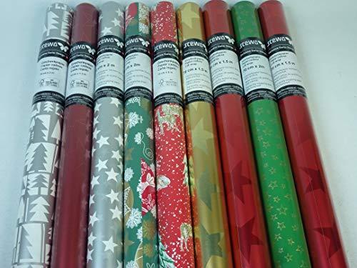 SOPO 4 Rollen 200 x 70 cm STEWO Weihnachts Geschenkpapier, höchste Qualität, EXTRA REISSFEST, Weihnachtsgeschenkpapier, Weihnachten Geschenkpapier
