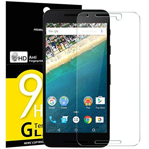 NEW'C 3 Pezzi, Vetro Temperato per LG Google Nexus 5X, Pellicola Prottetiva Anti Graffio, Anti-Impronte, Senza Bolle, Durezza 9H, 0,33mm Ultra Trasparente, Ultra Resistente