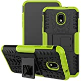 Viodolge for Samsung Galaxy J7 Refine Case,J7 V 2018,Galaxy J7 Top,J7 Crown,J7 Aero,J7 Aura,J7 Eon,J7 Star Case, [Shockproof] Rugged Dual Layer Case Cover with Kickstand (Green)
