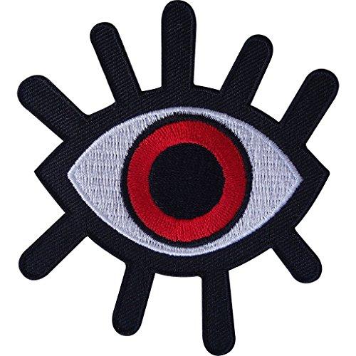 Parche de mal de ojo para planchar o coser en la ropa, motociclista, motocicleta monstruo