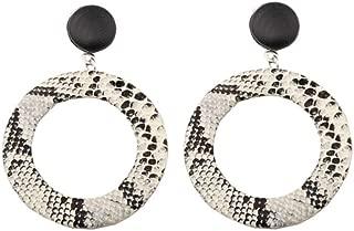 AKTAP Punk Snake Earrings Unique Hoop Geometric Circle Big Earrings Stud Dangle Earrings for Women Girls
