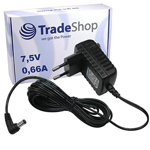 Netzteil Ladekabel Ladegerät 7,5V/0,66A (660mA) 5,5mm x 2,1mm für Babyphone Babyfon Philips Avent SCD510 SCD510/00 SCD520 SCD525 SCD525/00 SCD526 SCD530 SCD535 SCD536 baby-Einheit SSA-5W-09EU075040F