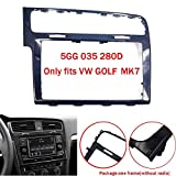 Autoradio Rahmen Trim Fitting Kit Panel Plate Dashboard Für VW Golf7