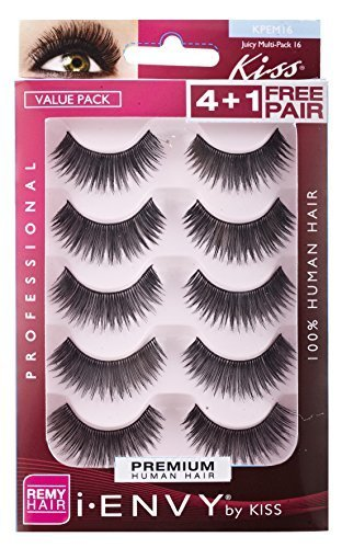 Kiss I Envy Juicy Volume 16 Value Pack 4+1 Lashes (2 Pack) by Kiss
