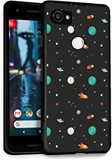 HelloGiftify Google Pixel 2XL Case, Planet Pattern TPU Black Soft Gel Protective Case for Google Pixel 2XL