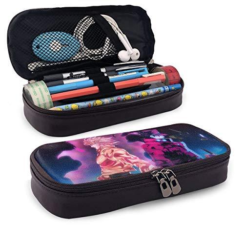 JoJo's Bizarre Adventure Federmäppchen für Erwachsene und Studenten, Buggy-Tasche mit Reißverschluss, Leder Stifte-Etui, Make-up-Tasche für Bleistifte, Stifte, Marker.