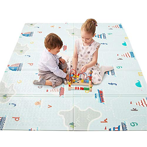 Great Features Of Aiyawear-BGP Baby Foam Play Mat Baby Reversible Play Mat Double-Sided Crawling Mat...