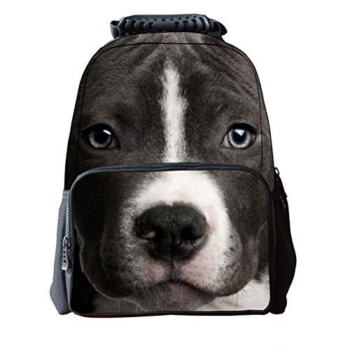 Pixnor Unisexe Sac à dos cartable sac de course l'impression 3D animaux Daypacks randonnée
