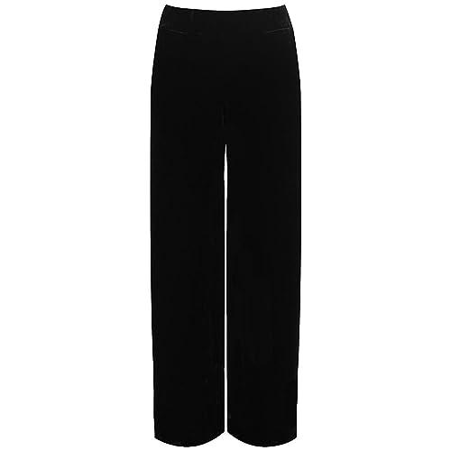 3105a5d0d9f7 Top Fashion Ladies Plus Size Women Velour Velvet Wide Flared Leg Pocket Pants  Ladies Palazzo Trousers
