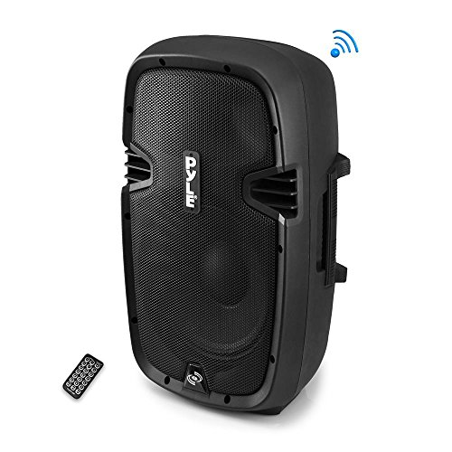 Powered Active PA System Loudspeaker Bluetooth with Microphone - 8 Inch Bass Subwoofer Stage Speaker Monitor Built-in USB for MP3 Amplifier - DJ Party Portable Sound Equipment Stereo Amp Sub - Pyle PPHP837UB