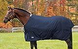 Rider's International by Dover Saddlery Medium Weight Supreme Turnout Blanket, 66, Navy/Navy
