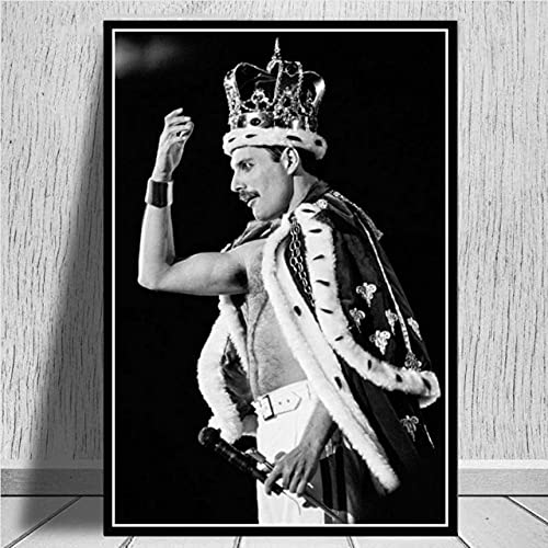 Kucyaty 5D Pintura Diamante Adulto Niños Diy Diamond Painting Kit Completo,70×90Cm,Freddie Mercury,Queen,Músico...
