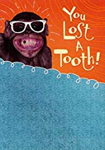 Designer Greetings Monkey with Glasses Lost Tooth Congratulations Card for Kids/Children