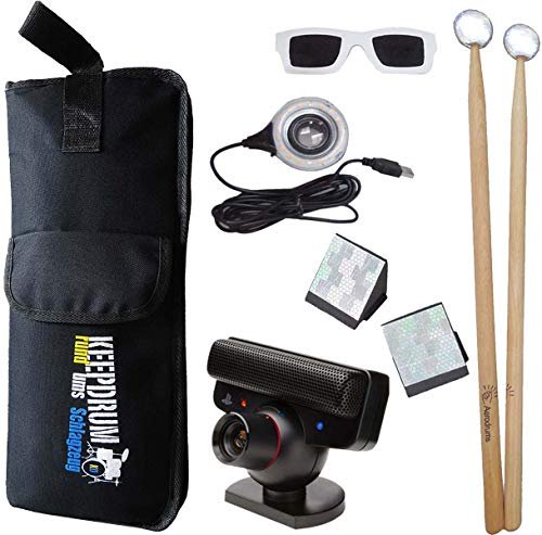 Aerodrums Air-Drumming Schlagzeug E-Drum mit PS3 Kamera + keepdrum Stickbag SB-01
