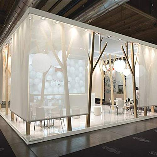 JLXJ Bambusrollo Weiße Patio Pergola Rollo, Bambus Licht Filterung UV-Schutz Datenschutz Lichtsteuerung Rollos, 70cm / 90cm / 110cm / 130cm Breit (Size : 110×200cm)