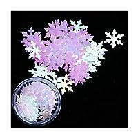 RUIMA 1箱ホログラフィッククリスマススノーフレークネイルスパンコールフレーク3DネイルアートグリッターシルバーPailletteマニキュアの装飾 (Color : DX03)