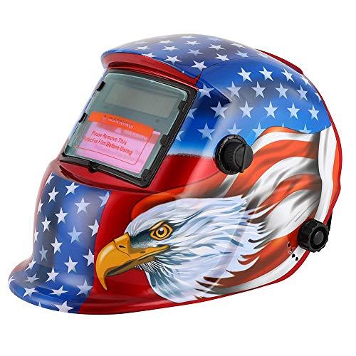 Casco de soldadura con energía solar, capucha de oscurecimiento automático, máscara de soldador con rango de sombra ajustable 4/9-13 para soldadura Mig TIG ARC