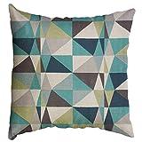 HEVÜY Dekorativ Kissenbezug Geometrische Muster 45 x 45cm Sofa Büro Dekor Kissenhülle aus...