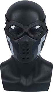 JCvCX 2018 Movie Bucky Winter Soldier Cospaly Latex Armor Arm Soft Mask Goggles (Mask+Goggles)