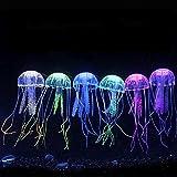 Danmu Art 6pcs 5x 14cm incandescente effetto fluorescente meduse artificiali ornamento per acquario decorazione