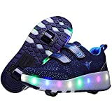 TTIK Automática Luces Zapatos con Ruedas para Pequeños Niños Y Niña Zapatos De Patineta con Carga USB Patines En Línea para Exteriores, para Exteriores Y Zapatillas Deportivas