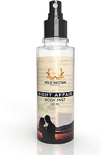 Wild Nectar Organic Night Affair Premium Body Mist Spray ( Oriental & Romantic Vanilla Fragrance ) 100ML For Women & Men