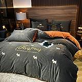Bedding-LZ Juegos de sábanas de 160x223-Invierno Grueso cálido Franela Fresca...