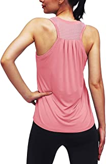 Mippo Womens Athletic Tank Tops Loose Fit Mesh Back Workout Tops Racerback Fitness Shirts