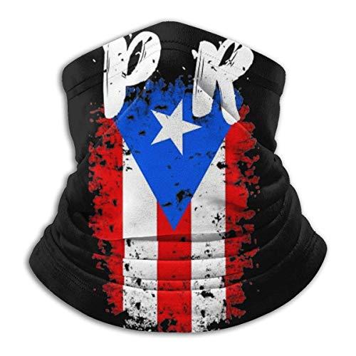 LAKILAN Bandera De Puerto Rico Pr Sombreros Sin Costuras,Cubierta Facial,Banda Elástica Ultra Suave,Pañuelo Deportivo,Diademas para Exteriores