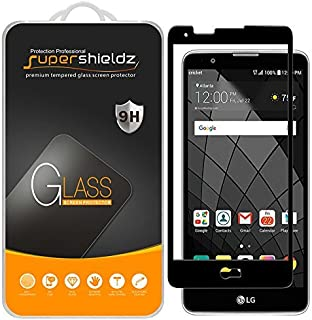 (2 Pack) Supershieldz for LG Stylo 2 V (Verizon) Tempered Glass Screen Protector, (Full Screen Coverage) 0.33mm, Anti Scratch, Bubble Free (Black)