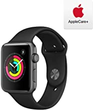Apple Watch Series 3 (GPS, 42mm) - Space Gray Aluminum Case with Black Sport Band with AppleCare+ Bundle