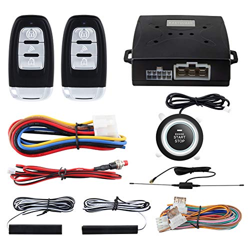 EASYGUARD EC003-1 PKE Passive Keyless Entry Car Alarm System Push Button Start Remote Start Starter DC12V