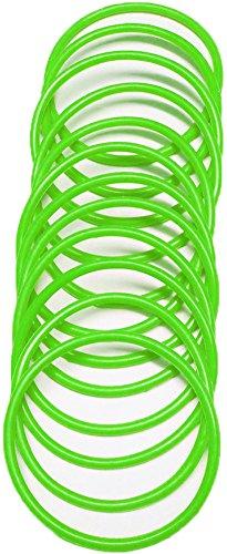 A-Express® Armreif im 1980er-Stil, neonfarbe, aus Gummi, Armband, grün