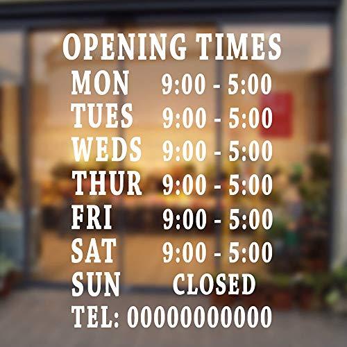 wandaufkleber sternenhimmel Personalisierte Bar Club Pub Büro Salon Barber Shop Öffnungszeiten Aufkleber Schaufenster Schilder