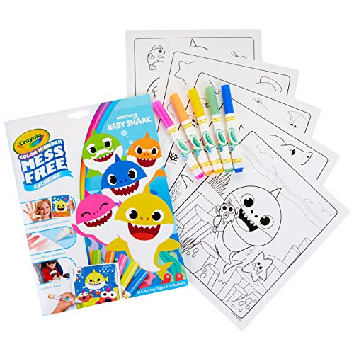Crayola Baby Shark Wonder Pages, Mess Free Coloring, Gift for Kids