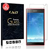 J&D Compatible for Sony Xperia Z5 Compact Glass Screen Protector (2-Pack), Not Full Coverage, Tempered Glass HD Clear Ballistic Glass Screen Protector for Xperia Z5 Compact Screen Protector