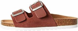 VERO MODA Vmcarla Leather Sandal, Sandalia Mujer