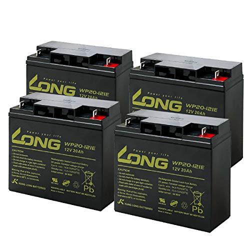 LONG / WP20-12IE【お得!4個セット】(産業用鉛蓄電池) PE12V17互換 UPS(無停電電源装置) 電動車イス 電動バイク 電動ゴルフトロリー対応 サイクルバッテリー シールド型 MF