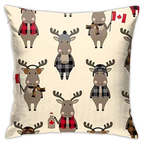 suichang Rein kanadische Eh - Moose Natural Kissenbezüge Sofa Home Decor 18 × 18 Zoll