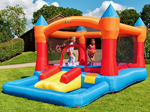 BeBoP Turret Ball Pit Kids Large Inflatable Garden Bouncy Castle for Children