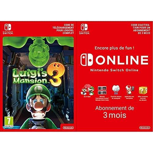Luigi's Mansion 3 Standard | Nintendo Switch – Code jeu à télécharger & Switch Online - Abonnement 3 Mois | Code de téléchargement (Switch)